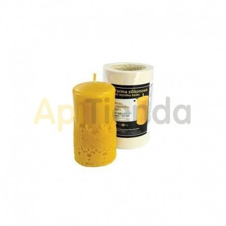 Moldes Molde vela con lazo, grande Molde de silicona Espesial elaborar velas de cera de abejas Altura 12 cm Cera 458 g Mecha
