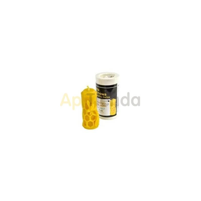 Moldes Molde Vela baja con abeja 7cm Molde de silicona Ideal para elaborar las velas de cera de abejas Altura 7 cm Mecha 3×10