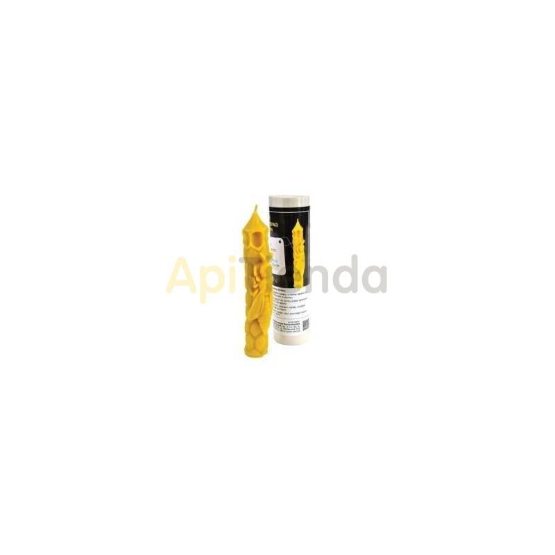 Moldes Molde Vela Alta con abeja 15,5 cm Molde de silicona Ideal para elaborar las velas de cera de abejas Altura 15,5 cm Cer