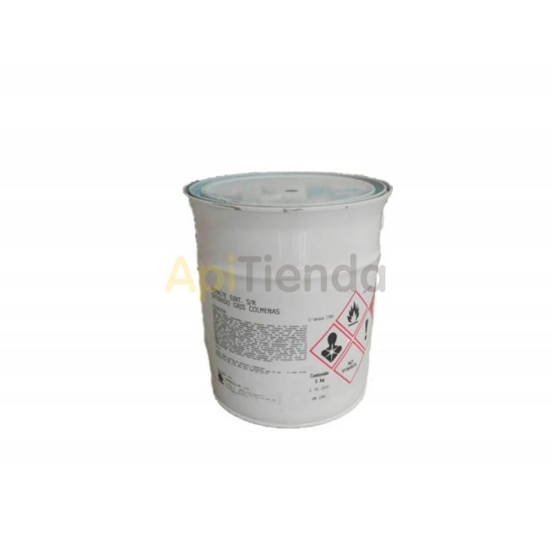 Colmenar Pintura Gris para Colmenas 4L PINTURA ESMALTE SATINADO GRIS ESPECIAL PARA COLMENAS PESO 5kg (4 LITROS)(828022006)Esma