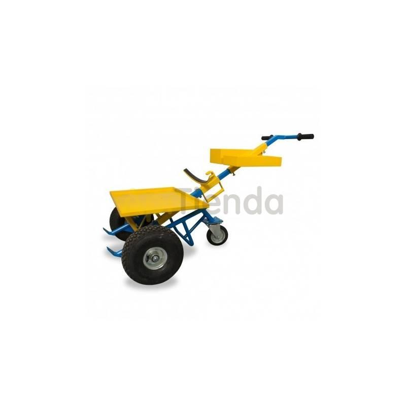 Transporte de colmenas y miel Carretilla para transportar colmenas Carretilla con plataforma para transporte de colmenas y bidon