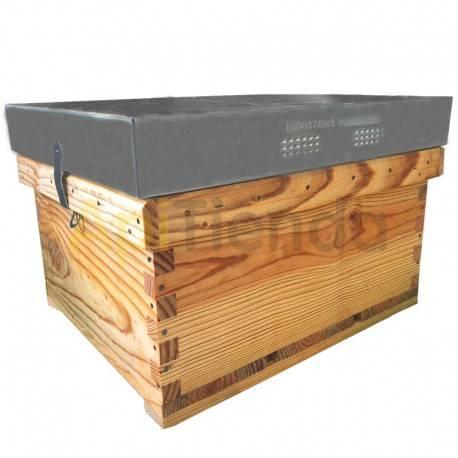 Colmenas de madera Cámara de cría Langstroth Transhumante Dominguez Colmena simple, solo la cámara de cría, modelo Langstroth o