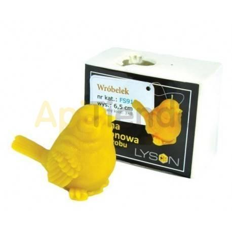Moldes Molde Gorrión Molde de silicona para elaborar las velas de cera de abeja Forma - Gorrión Altura 65 mm Mecha 3x8 40