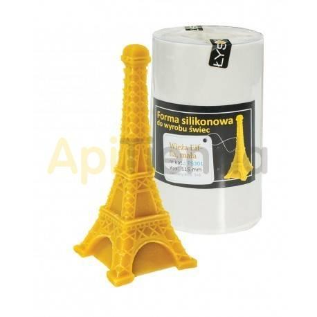 Moldes Molde vela Torre Eiffel Molde de silicona para velas de cera. Forma - torre eiffel Altura aprox. 115mm Mecha recome