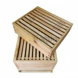 Colmenas de madera Colmena Dadant  Fija Colmena Dadant FIJA Madera de pino calidad extra Tratada con aceite de linaza Piquer