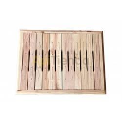 Colmenas de madera Media alza Layens de 12 cuadros Medias alzas para colmenas Layens de 12 cuadros con rebaje. Dimensiones del