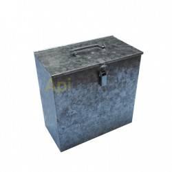 Ahumadores Caja de transporte para ahumador, galvanizada Caja de acero galvanizado ideal para transportar el ahumador en el coch