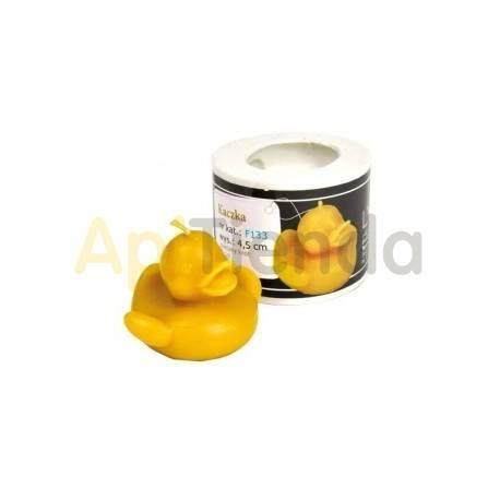 Moldes Molde vela pato Molde de silicona para elaborar las velas de cera de abeja Forma - pato Altura 45 mm Mecha 3x10 Ga