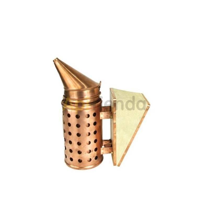 Ahumadores Ahumador de cobre 30cm Ahumador de alta calidad con protección, fabricado en cobre y con fuelle de piel. Cuenta con 2
