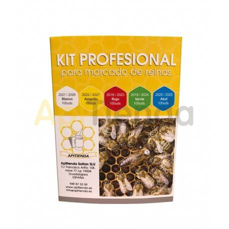 Reinas Kit profesional de marcado de reinas Kit profesional para el marcado de reinas, consta de: -5 tarjetas una por cada colo