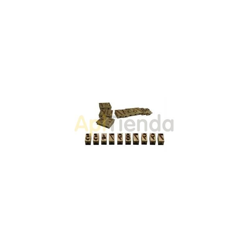 Accesorios y cuadros Caracteres para marcador de colmenas Caracteres para marcador de colmenas de gas o eléctrico - a elegir
