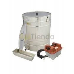 Cera  Caldera de cera a vapor de 200L Fundidora de cera a vapor está compuesta de un depósito, filtro en acero inoxidable en el