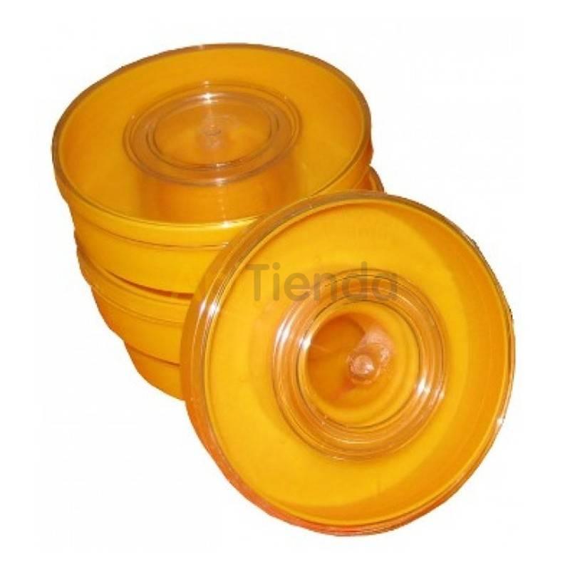 Alimentadores Alimentador amarillo, redondo 1KG   Alimentador redondo fabricado en plástico con capacidad para 1kg de alimento