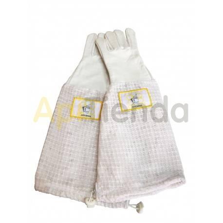 Guantes de piel con mangas totalmente ventiladas