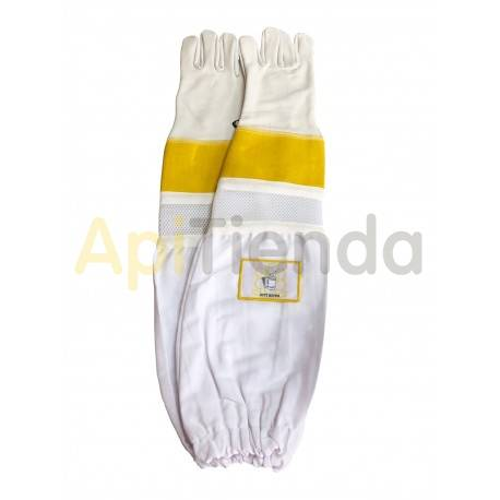 Guantes Guantes de cuero ventilados con protección mod.4 Guantes de cuero de alta calidad, ventilados, con manguitos de lona y p