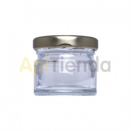 Bote de  cristal 1/4kg, con tapa