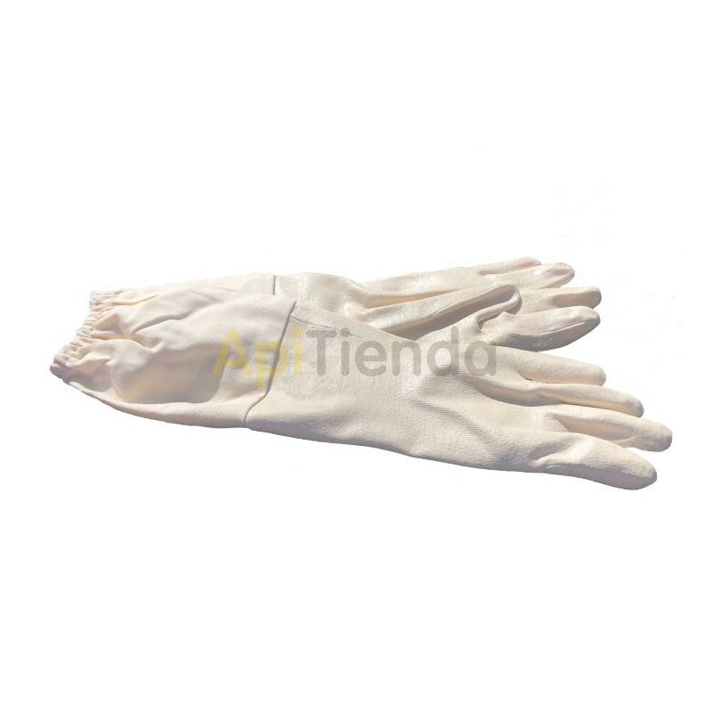 Guantes Guantes de nitrilo blancos Guantes fabricados en nitrilo, muy resistentes y seguros Color blanco. Manguito en algodon