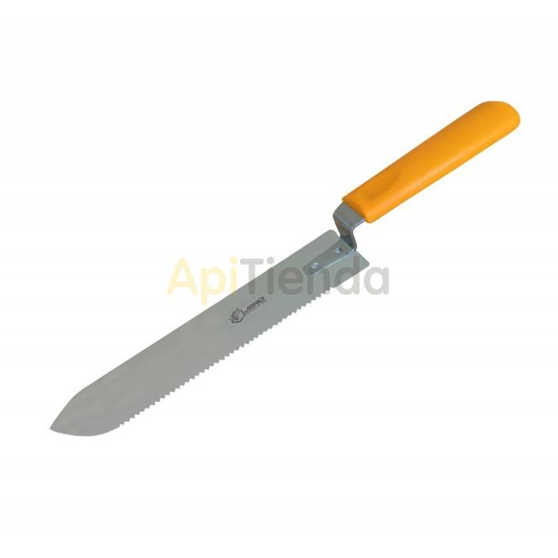 Material  Cuchillo liso-dentado, hoja ancha Herramienta multiusos, cuenta con un filo liso y afilado y otro dentado como una sie