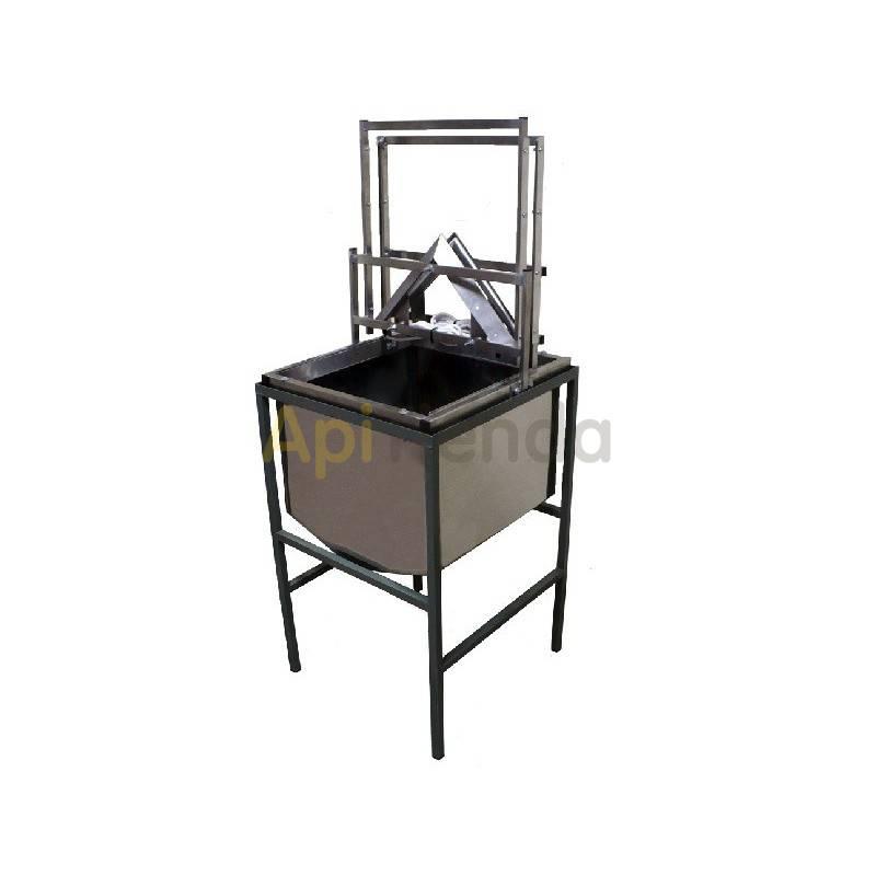 Desoperculadora manual eléctrica con cubeta