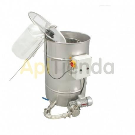 Envasadoras y bombas de trasiego Deposito con bomba de filtrado, 200l Ficha técnica:»Volumen del barril 200L»Potencia de la bomb