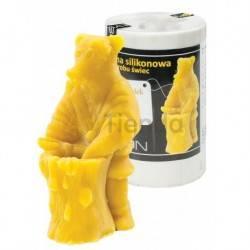 Moldes Molde oso y barril  Molde de silicona para elaborar las velas de cera de abeja Forma - Oso y barril Altura aprox. 11