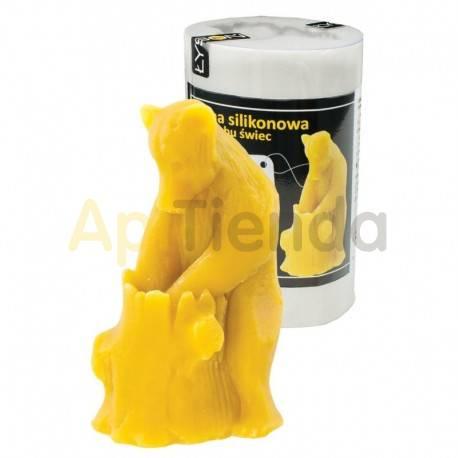 Moldes Molde oso    Molde de silicona para elaborar velas de cera Forma - Oso Altura aprox. 115mm Mecha recomendable 3×1