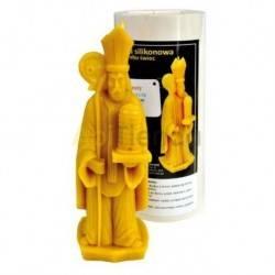 Moldes Molde San Ambrosio    Molde de silicona para elaborar las velas de cera de abeja Forma - San Ambrosio Altura aprox