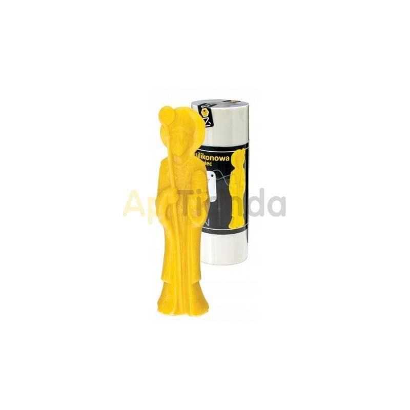 Apicultura Molde San Ambrosio, pequeño    Molde de silicona para elaborar las velas de cera de abeja Forma - San Ambrosio