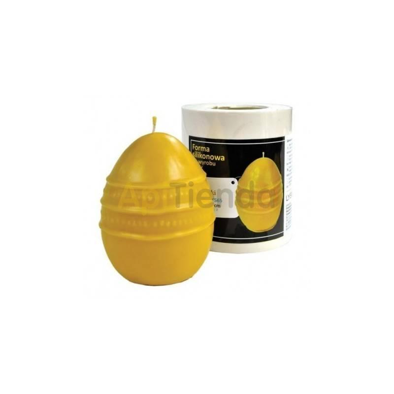 Moldes Molde Huevo con cenefa Molde de silicona para elaborar las velas de cera de abeja Huevo con cenefa Altura 55 mm Mecha