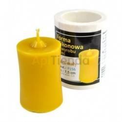 Moldes Molde cilindro, pequeño      Molde de silicona para elaborar velas de cera Forma - cilindro Altura aprox. 75mm