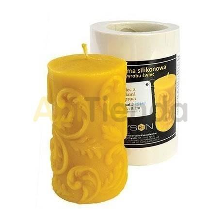 Moldes Molde vela con brotes de helecho        Molde de silicona para elaborar velas de cera Forma - cilindro Altura