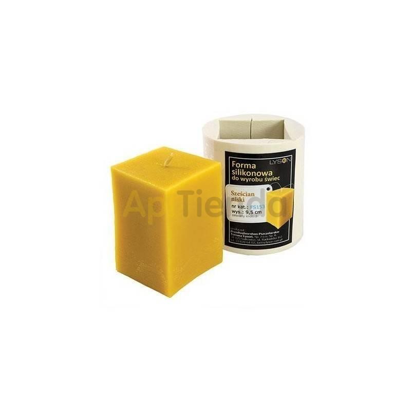 Moldes Molde Cuadrado, mediano    Molde de silicona para elaborar velas de cera Forma - cubo Altura aprox. 95 mm Mecha r
