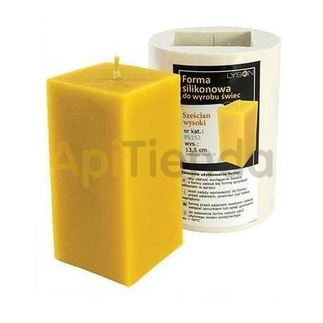 Moldes Molde cuadrado, grande    Molde de silicona para elaborar velas de cera Forma - cubo Altura aprox. 135 mm Mecha re