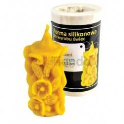 Moldes Molde vela con amapolas              Molde de silicona para elaborar velas de cera Forma - vela con amapo