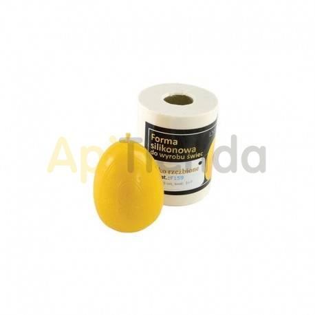 Moldes Molde huevo esculpido            Molde de silicona para elaborar velas de cera Forma - huevo esculpido Alt