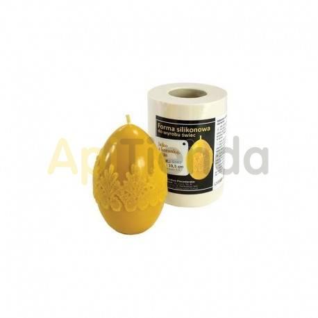 Pascua Molde huevo con cordón, grande            Molde de silicona para elaborar velas de cera Forma - huevo con co