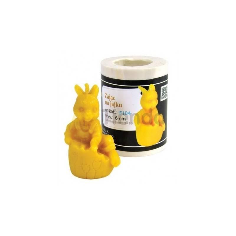 Molde conejo saliendo de huevo