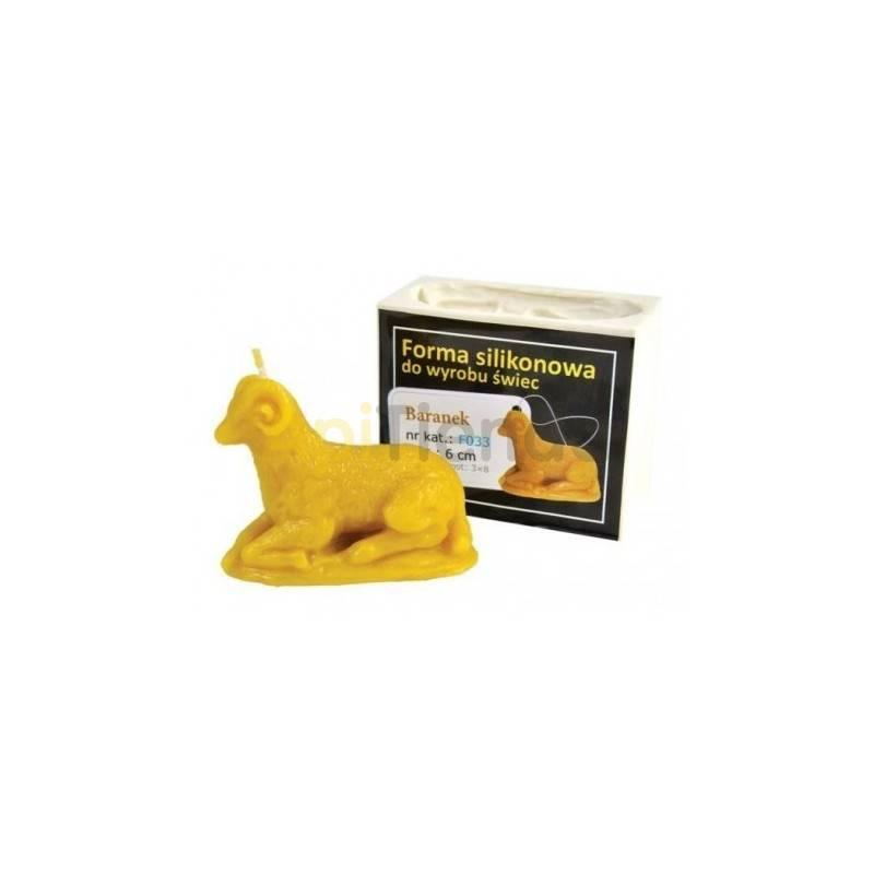 Moldes Molde cordero  Molde de silicona para elaborar las velas de cera de abeja Forma - Cordero Altura aprox. 60mm Mecha r