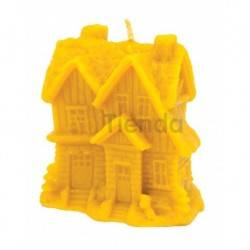 Mold winter house, Silicone mold to make wax candlesShape - winter houseHeight approx. 100mm3x16 recommended wickSpending 245g w