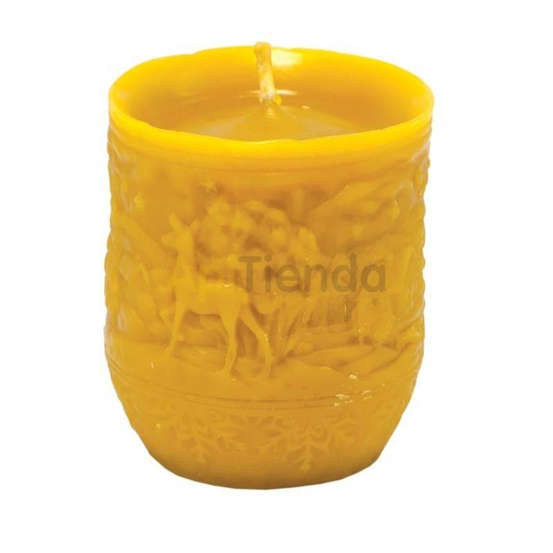 Moldes Molde vela con motivos invernales                  Molde de silicona para elaborar velas de cera Forma