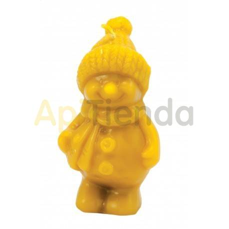 Moldes Molde hombre de nieve con gorro                  Molde de silicona para elaborar velas de cera Forma -