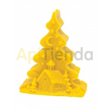 Moldes Molde arbol de Navidad con iglesia                  Molde de silicona para elaborar velas de cera Forma