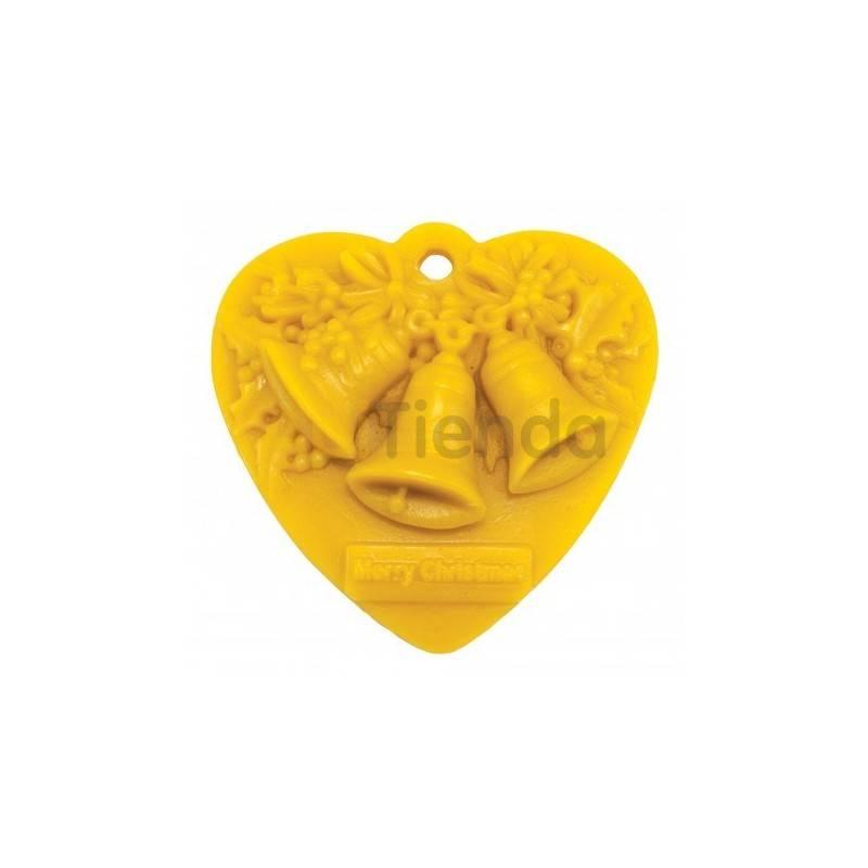 Moldes Molde corazón con campanas                  Molde de silicona para elaborar velas de cera Forma - cor