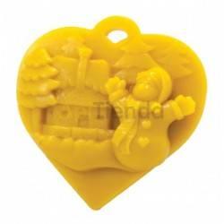 Moldes Molde corazón con escena navideña                  Molde de silicona para elaborar velas de cera Forma