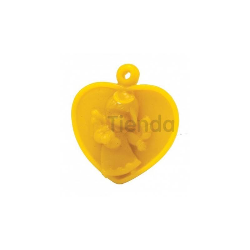 Moldes Molde corazón con ángel                  Molde de silicona para elaborar velas de cera Forma - Huevo