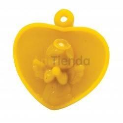 Moldes Molde corazón con ángel, mod.2                  Molde de silicona para elaborar velas de cera Forma -