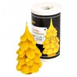 Moldes Molde árbol de Navidad con bolas                  Molde de silicona para elaborar velas de cera Forma