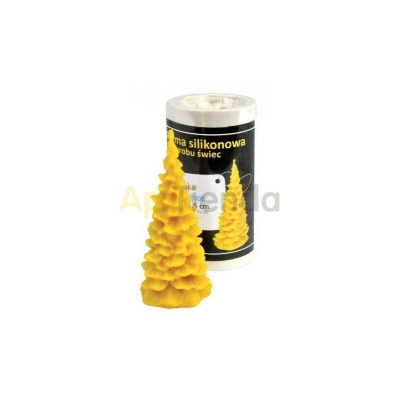 Moldes Molde árbol de Navidad liso                    Molde de silicona para elaborar velas de cera Forma -