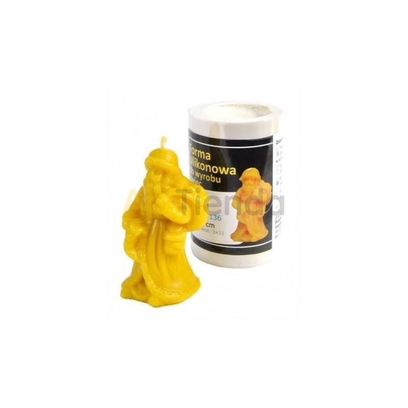 Moldes Molde Papa Noel                        Molde de silicona para elaborar velas de cera Forma - pap