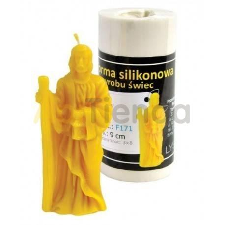 Moldes Molde San José Molde de silicona para elaborar velas de cera Forma - San Jose Altura aprox. 90mm Mecha recomendada